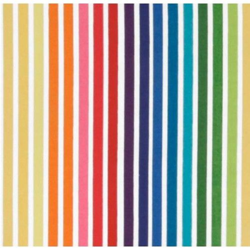 Remix Stripes Bright Cotton Fabric by Robert Kaufman | Fabric Traders
