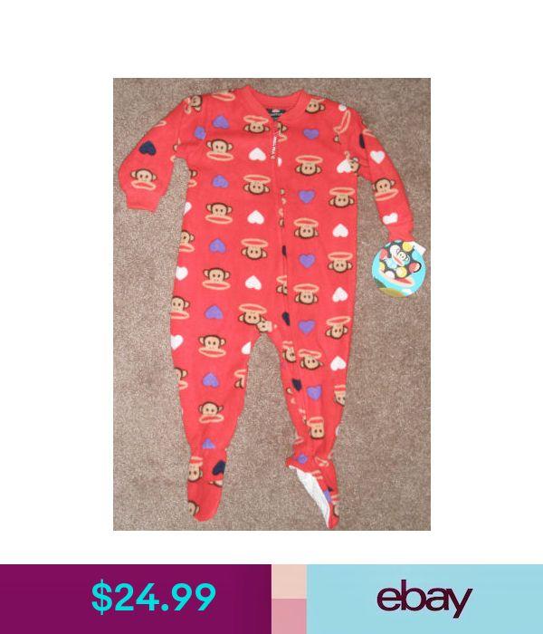 Paul Frank Julius Monkey Valentine/'s Red Footed Boys Girls Pajamas 18M 24M 2T 3T