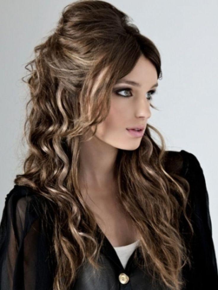 ويفي للشعر الطويل مفتوح احلى كيرلي لكل المناسبات Formal Hairstyles For Long Hair Half Updo Hairstyles Semi Formal Hairstyles
