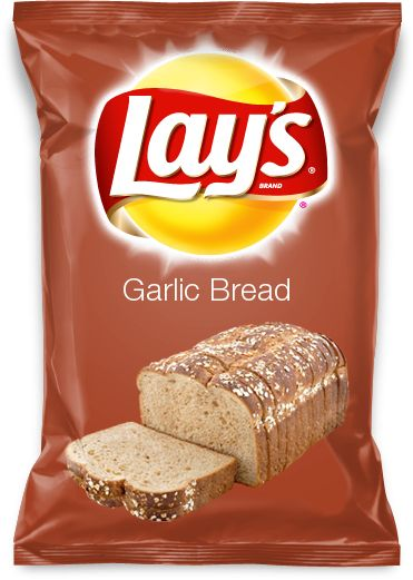 Garlic Bread Flavored Lays Chips