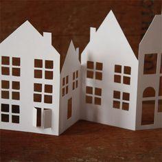 Moldes casas navideñas en carton - Imagui
