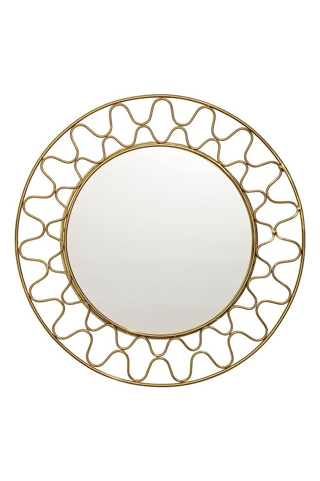 Round Metal Mirror Metal Mirror Mirror Gold Mirror