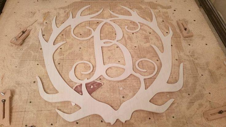 #antlers #horns #deer #elk #reindeer #lol #whitetail #muledeer #sikadeer #woodwork #woodworking #wood #monograms #doorhanger #doordecor #decor #outdoors #wildlife #initials #southerncharm #homegrown de beauco_llc