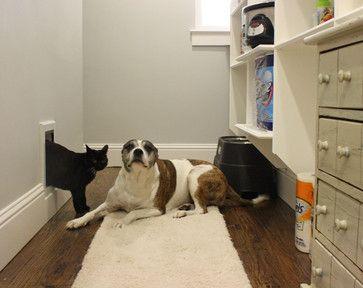 Pet Door to Utility Room - Kara Weik © 2012 Houzz