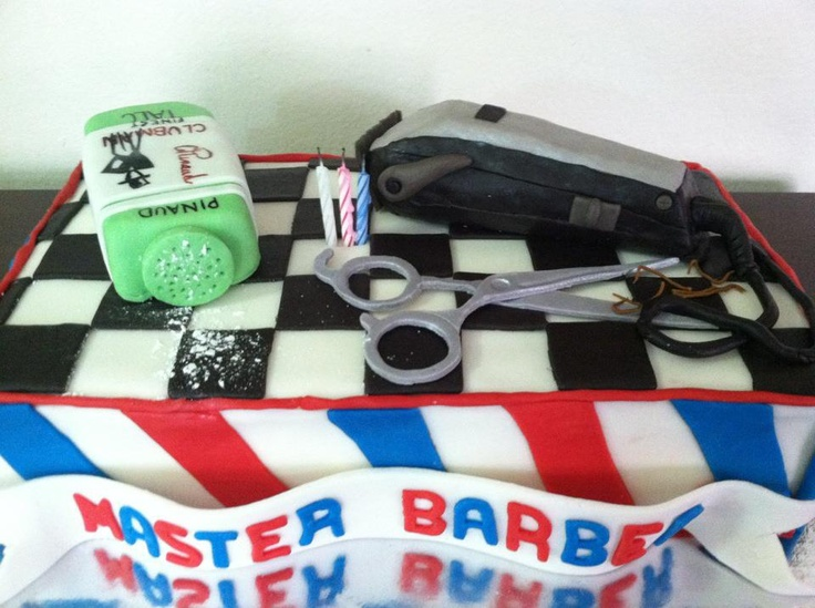 Barber Shop cake | cakes | Pinterest | Shops, So and 30