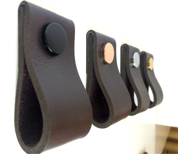 81 best Leather pulls & handles images on Pinterest   Cabinet ...