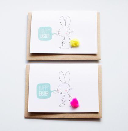 De kaartjes op de openingspagina kwam ik tegen bij Poppytalk en zijn ontworpen door Penelope and Pip. Poppytalk noemt het de meest simpele DIY paaskaart en dat is niets teveel gezegd. (download).: Cards Ideas, Bunnies Cards, Diy Easter, Easter Cards, Easter Bunnies, Cards Diy, Free Printable, Happy Easter, Easiest Easter