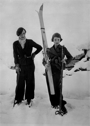Elsa Schiaparelli, with her daughter Gogo. St. Moritz, 1934