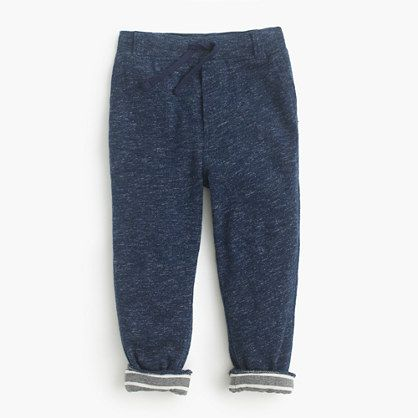 Finished with tailored details like belt loops and pockets (including one in back), these comfy pull-on pants hit the right balance between chinos and sweats (meaning you'll both be happy). Plus, this pair is lined in cotton jersey for an added layer of toastiness. <ul><li>Slim fit.</li><li>Cotton.</li><li>Elastic waistband.</li><li>Side pockets, back pocket.</li><li>Machine wash.</li><li>Import.</li></ul>