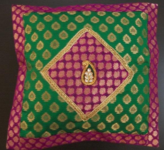 Indian Cushion Cover Cushion cover Throw Pillow by mycushionwork, $17.95