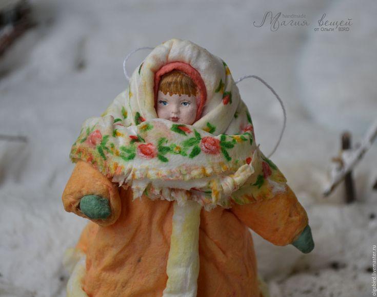 Купить Ватная елочная игрушка ДУНЯША - ватная игрушка, ватная елочная игрушка, игрушка из ваты