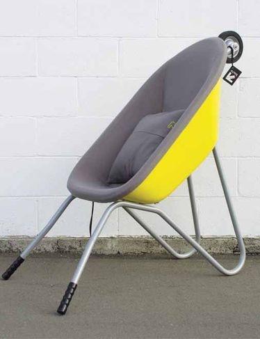 The Baro - a seat made from a wheelbarrow!