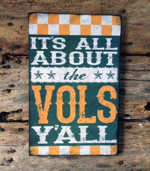 It's All About The VOLS Y'all Tennessee Reclaimed by SignNiche, $40.00