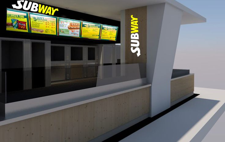 Archicad subway sandwich shop render