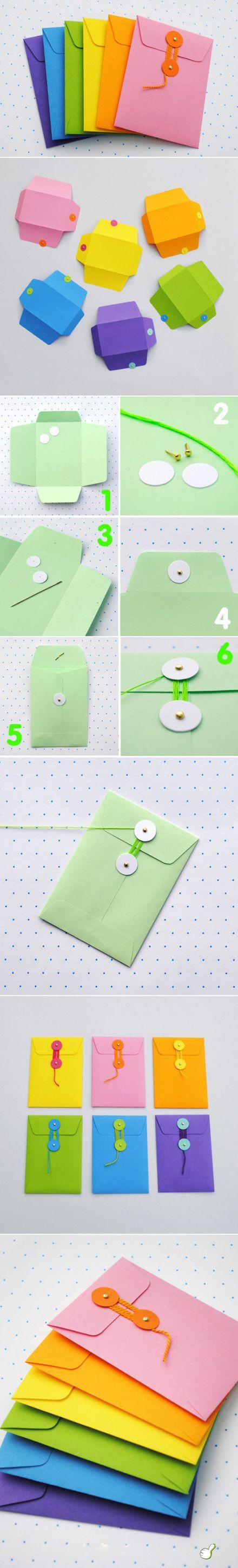 DIY colorful envelop