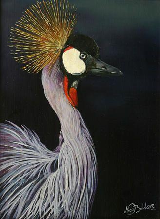 Nico Bulder - Crowned Crane