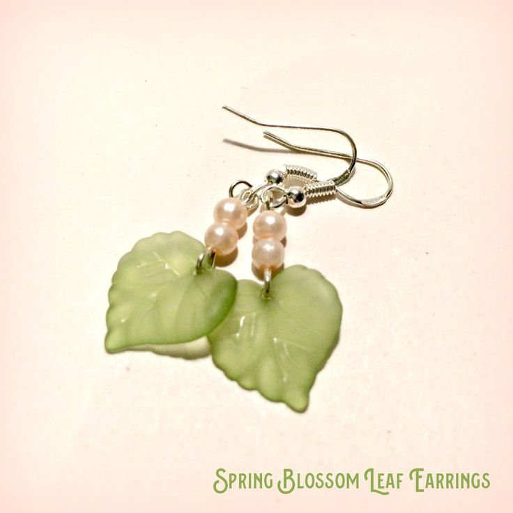 Leaf Earrings Spring Blossom