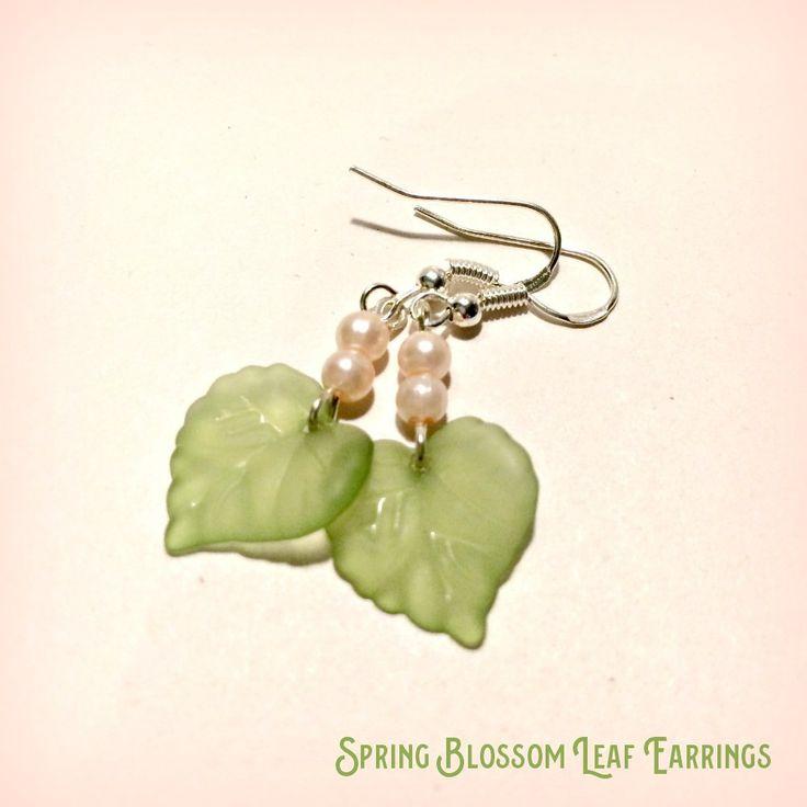 Leaf Earrings Spring Blossom