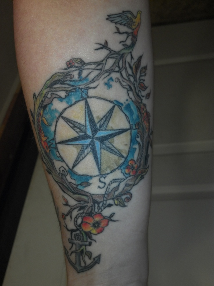 Compass by juan at first love tattoo in red bluff ca my for Ink craft tattoo