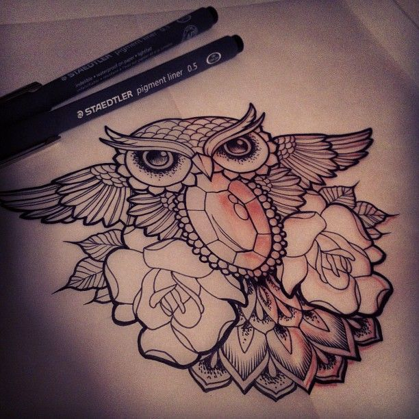 @erinstang !  Ornate little owly sketch! Yay!