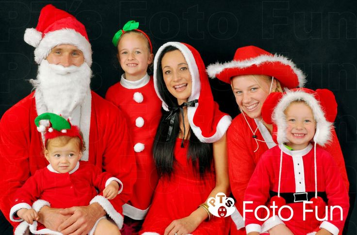 Christmas family portrait of six