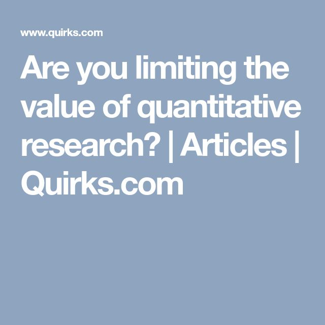 The  Best Quantitative Research Ideas On   Research