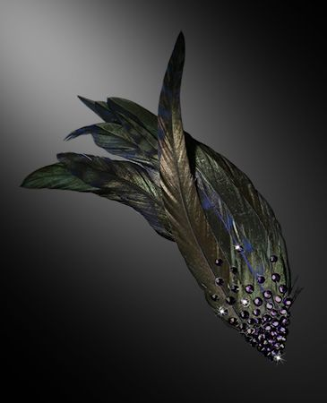 Zdenka Arko Tanzanite Rhinestone Hair Piece HA11001-34 - Rhinestone Jewelry | Dancesport Fashion @ DanceShopper.com