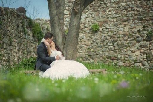 Outside the castle , a romantic pic by Manthos Tsakiridis
