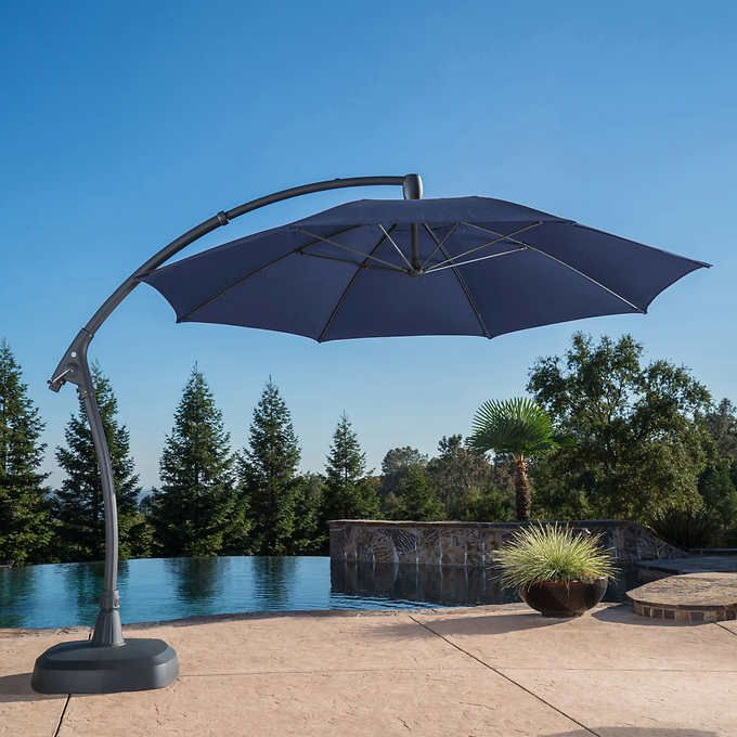 Blue 1 Cantilever Patio Umbrella Patio Umbrella Cantilever Umbrella
