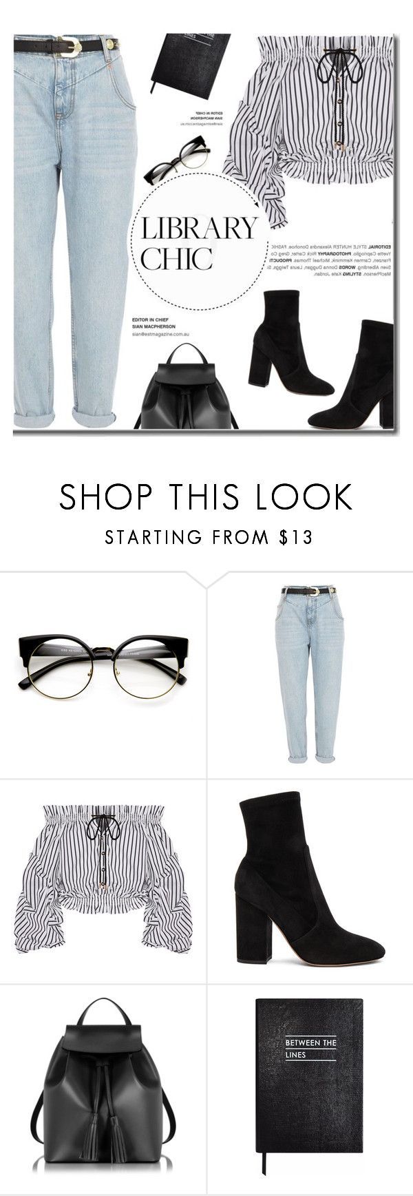 """""""Study Session: Library Chic"""" by fashion-bea-16 ❤ liked on Polyvore featuring ZeroUV, River Island, Caroline Constas, Valentino, Le Parmentier, Sloane Stationery, polyvoreeditorial and librarychic"""