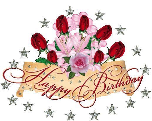 Happy birthday fiori e stelline