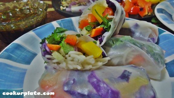 vegetarian rice paper rolls 5