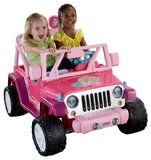 Power Wheels Barbie Jammin Jeep Wrangler, Dark Pink