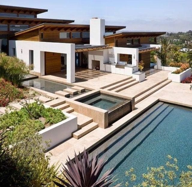 best ideas for modern house design architecture picture description the hilltop house in rancho santa fe california by safdie rabines - Nice Big Houses With Pools