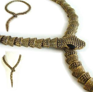 aparte ketting bronskleurige slang -SMADA® Trading