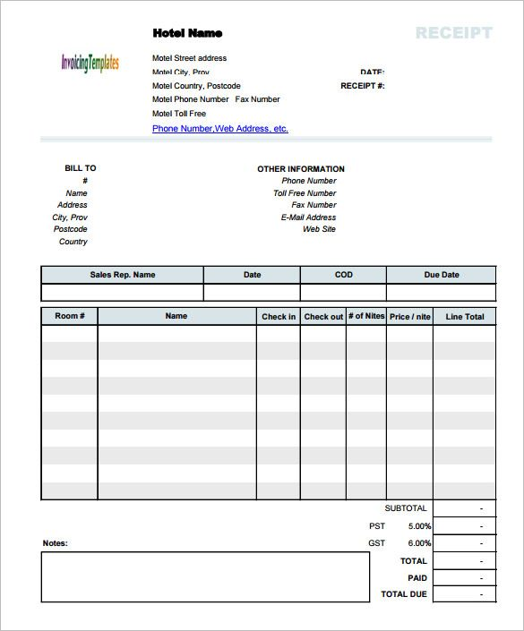 Hotel Invoice Receipt Template Document Invoice Template For Mac Online Mac Is A System Made By App Invoice Template Invoice Template Word Receipt Template