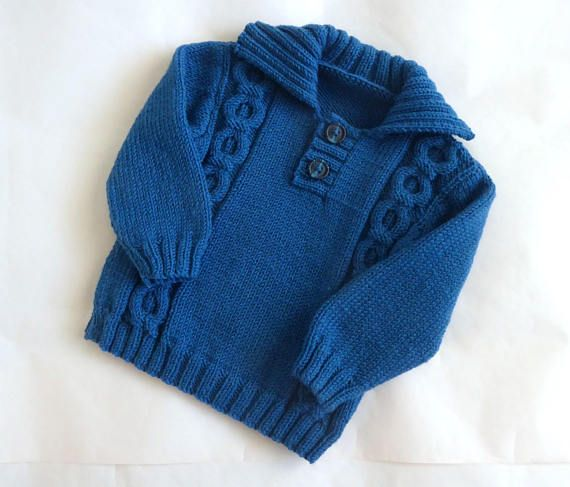 c8618212c Boys blue pullover sweater baby boy jumper wool sweater with ...