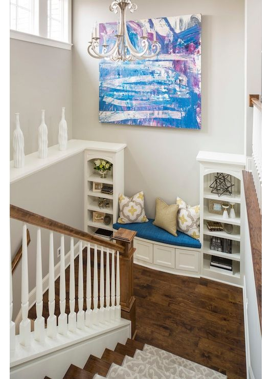 Basement Stair Landing Decorating: 17 Best Images About Stairs & Ironwork On Pinterest