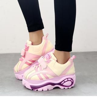 Buy 'Laceuplux – Color-Block Platform Sneakers' with Free Shipping at YesStyle.co.uk. Browse and shop for thousands of Asian fashion items from China and more!