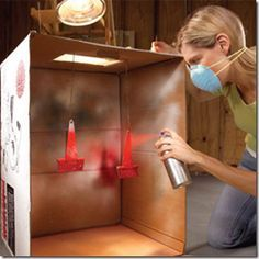 Great way to keep paint on item to be painted and not other things