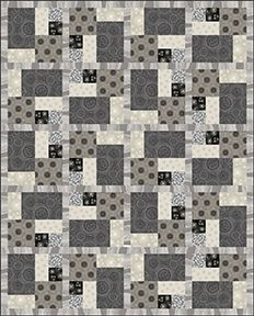 "Check out our FREE ""Vintage Tango"" quilt pattern using the collection, ""Nature's Pearl"" by Kanvas Studio. Designed by Heidi Pridemore. 