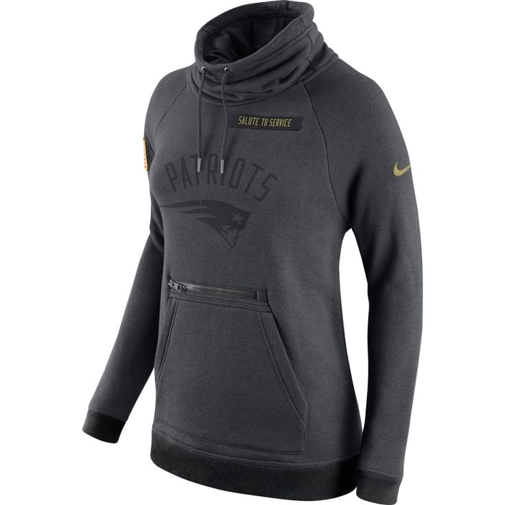Women's Cleveland Browns Nike Charcoal Salute to Service Rally Funnel Pullover  Hoodie