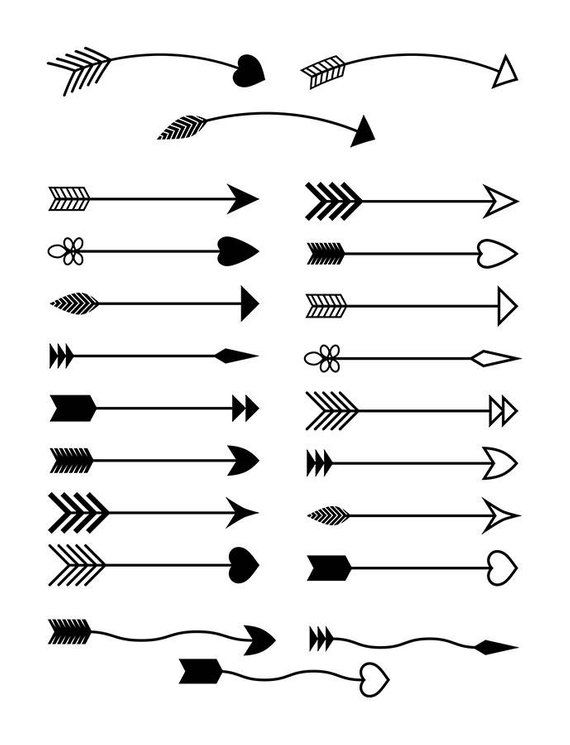 22 Arrows Clipart Rustic Arrow Clipart Arrow Svg Wedding Etsy Arrow Clipart Simple Arrow Tattoo Arrows Graphic