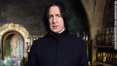 """Alan Rickman, who played Professor Severus Snape in the """"Harry Potter"""" films and """"Die Hard"""" villain Hans Gruber, has died."""
