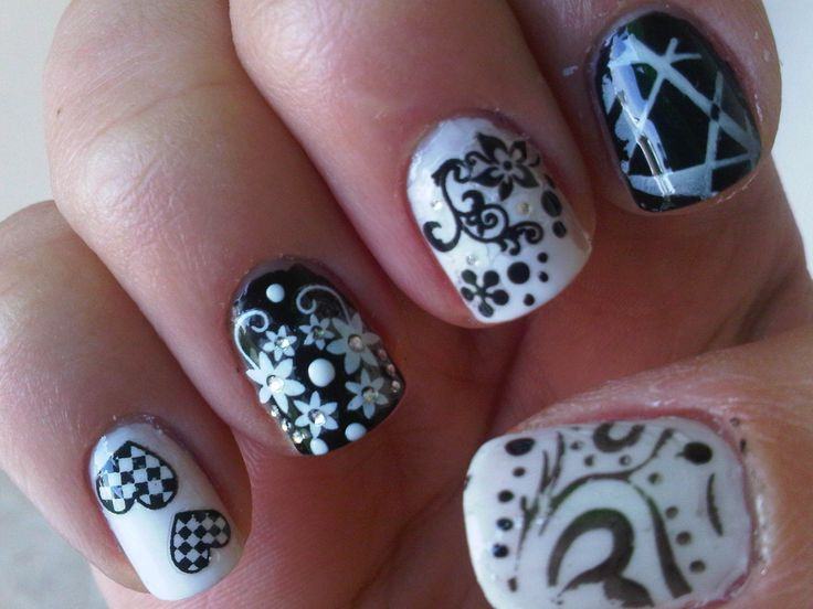 Days Ago Black And White Nails Cool Nail Art Designs Previous Next - Best 25+ Coral Nail Designs Ideas On Pinterest Coral Nails