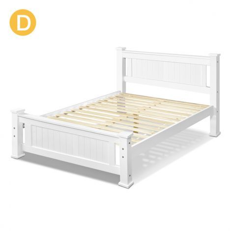 Best Buy Cheap Double Bed Frame Solid Pine Wood Timber W Slats 640 x 480