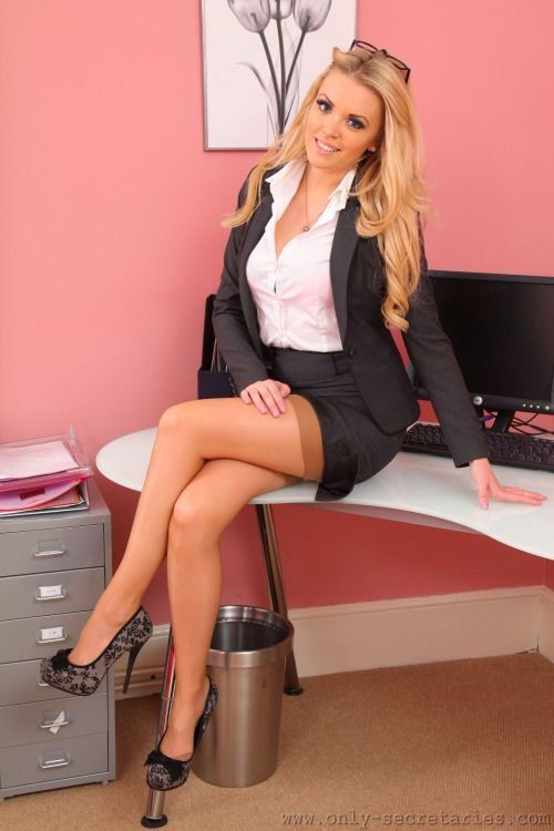 43 best images about secretaries on pinterest sexy the office and nude skirt - Office girls in stockings ...