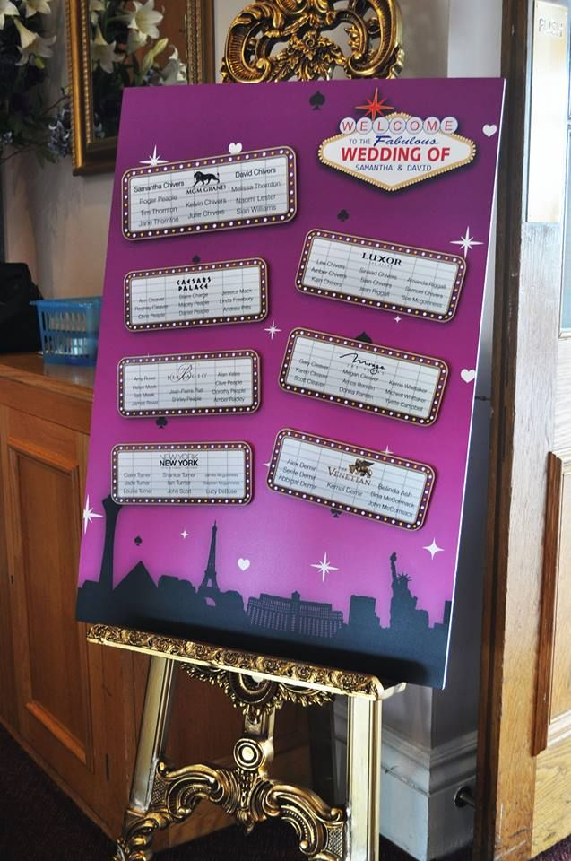 22 best images about las vegas themed wedding table plans on pinterest