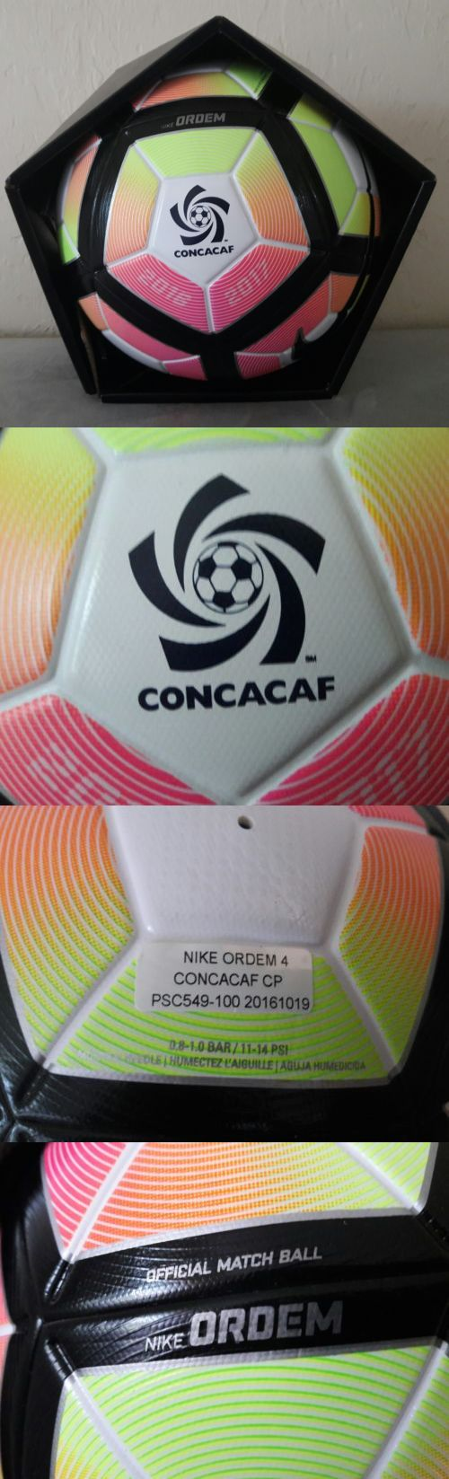 Balls 20863: Nike Ordem 4 Official Fifa Match Promo Soccer Ball Concacaf Psc549 100 Size 5 -> BUY IT NOW ONLY: $49.99 on eBay!