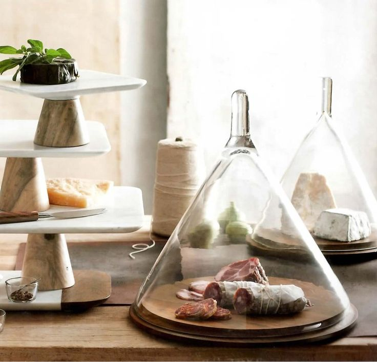 Tagine Cheese Dome with Wood Base | Forma Living